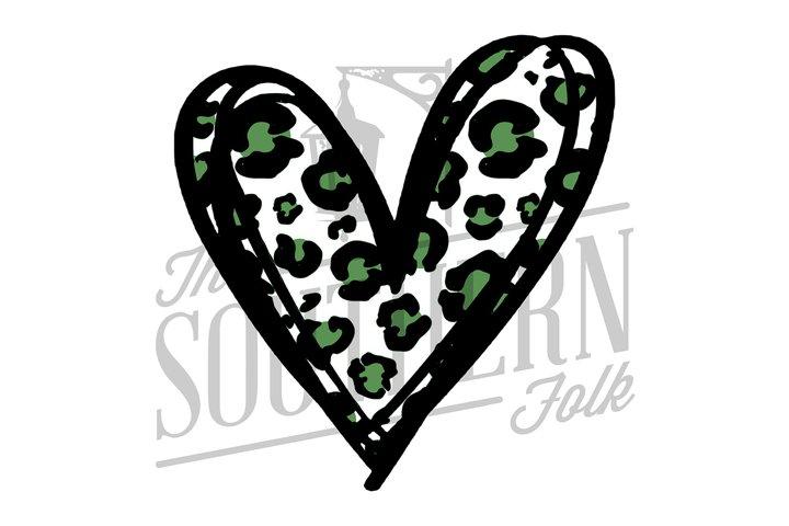 Cheetah Heart PNG File - Sublimation Design