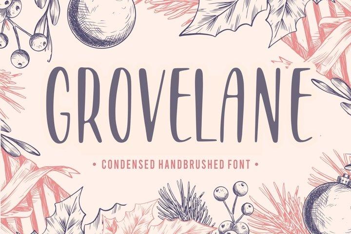 GROVELANE Condensed Handbrushed Font