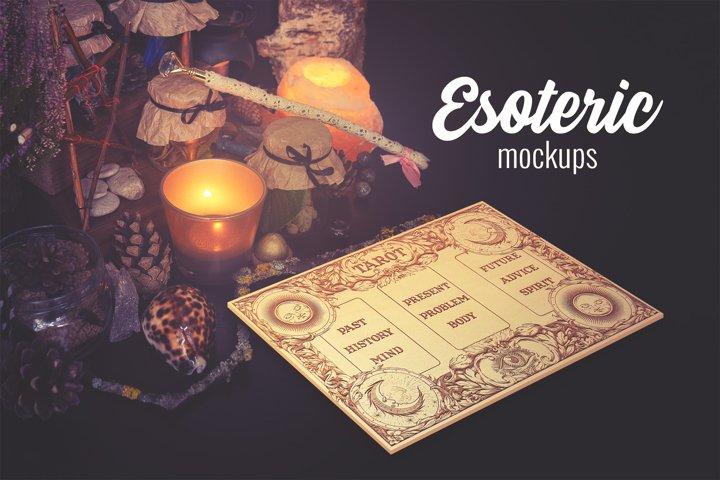 Esoteric mockups - PSD