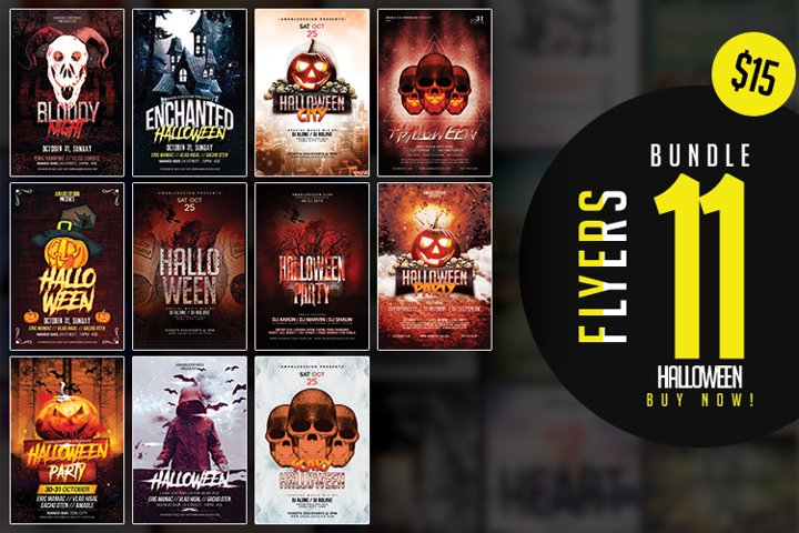 Halloween Flyers Bundle Vol.1