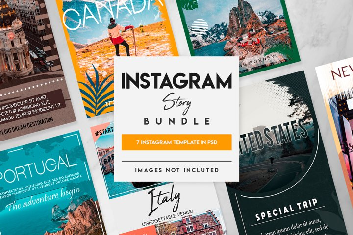 7 travel instagram story template