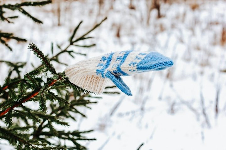 The concept of wintertime, holidays, New Year, Christmas.