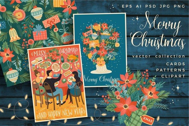 Merry Christmas! Vector collection