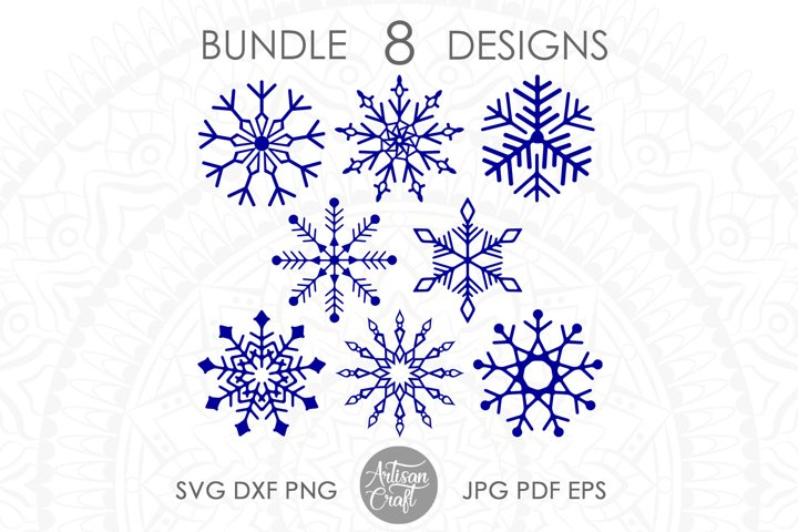 Snowflake SVG files, cut file, snowflake clip art