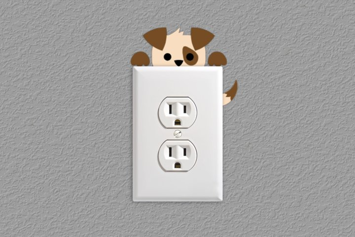 Puppy Light Switch and Outlet Decoration SVG Design