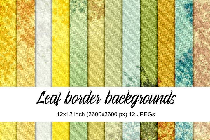 Leaf Border Backgrounds