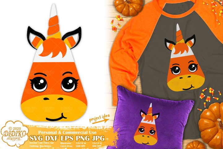 Halloween SVG | Halloween Unicorn SVG | Candy Corn SVG