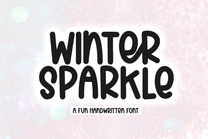 Winter Sparkle - A Fun Handwritten Font