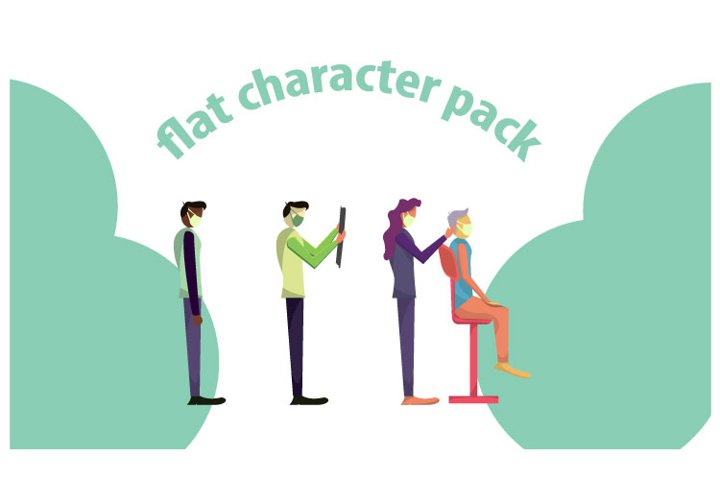 flat character for your website