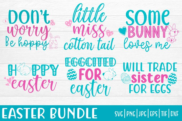 Easter holiday bundle svg png eps, Easter Quotes Bundle SVG