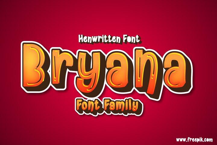 Bryana | Handwritten Font example 2