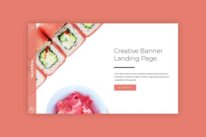Sushi Bar Hero Image Mockup #4