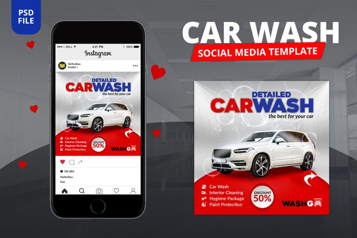 Car Wash Social Media Template