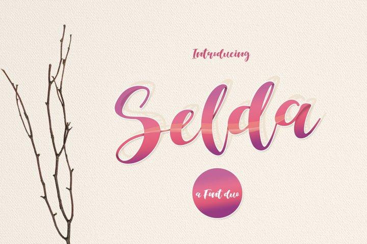 Selda Script Font Duo