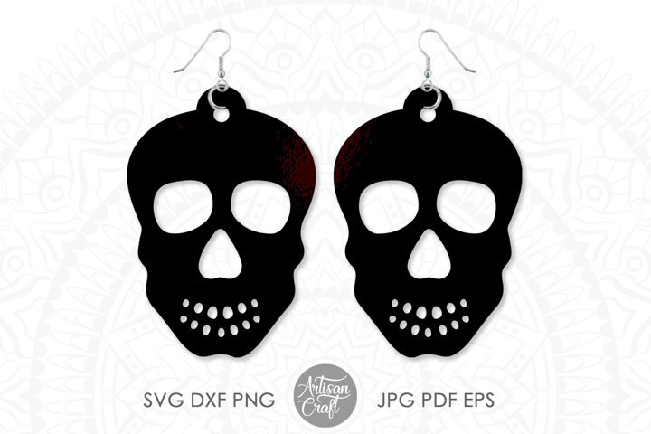 Earrings SVG, Skull earrings, Sugar Skull, dia de los muerto