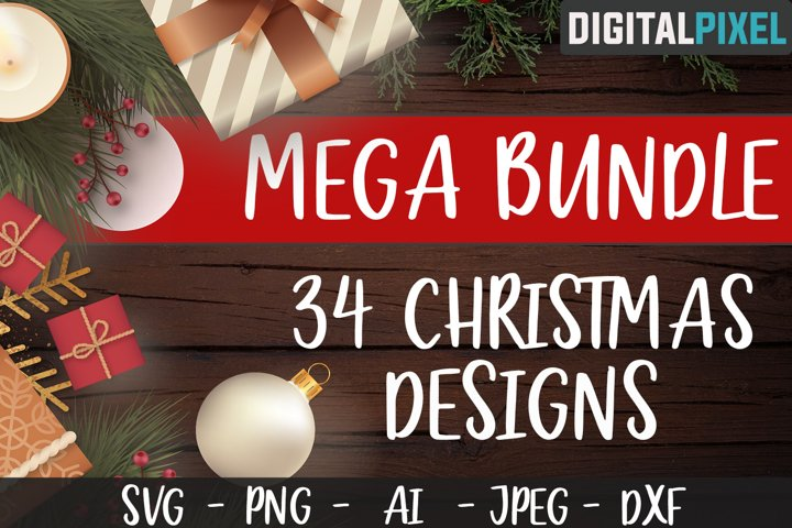 Christmas Bundle SVG Pack PNG JPEG DXF Mega Bundle Pack