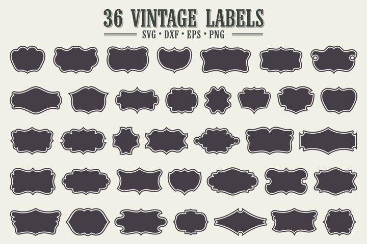 36 Vintage Labels