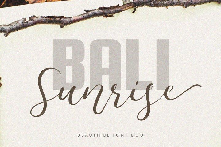 Bali Sunrise - Font Duo
