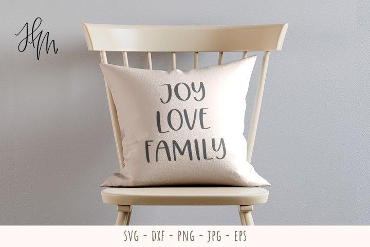 Joy Love Family cut file SVG DXF EPS PNG JPG