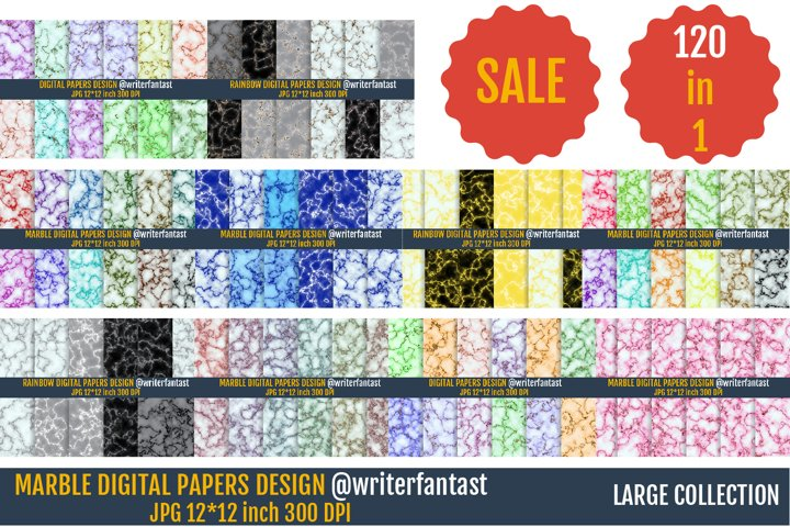 Marble Digital Papers, Marble textures and backgrounds