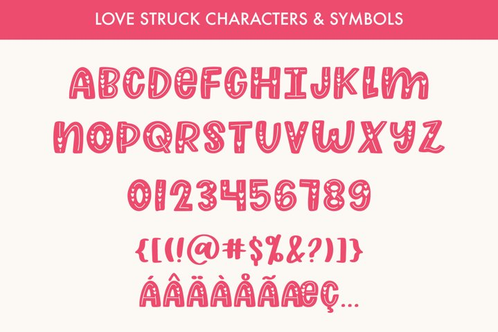 Love Struck, Thick Valentine's Heart Font - Free Font Of The Week Design6