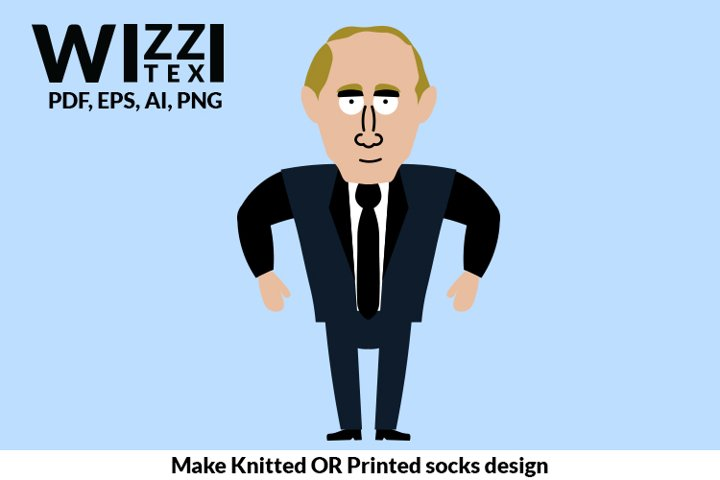 Putin clipart | PutinSock | Sock Designs | Putin Socks