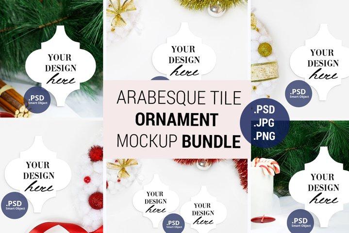 Arabesque Ornament mockup Bundle, Lantern tile mockup bundle