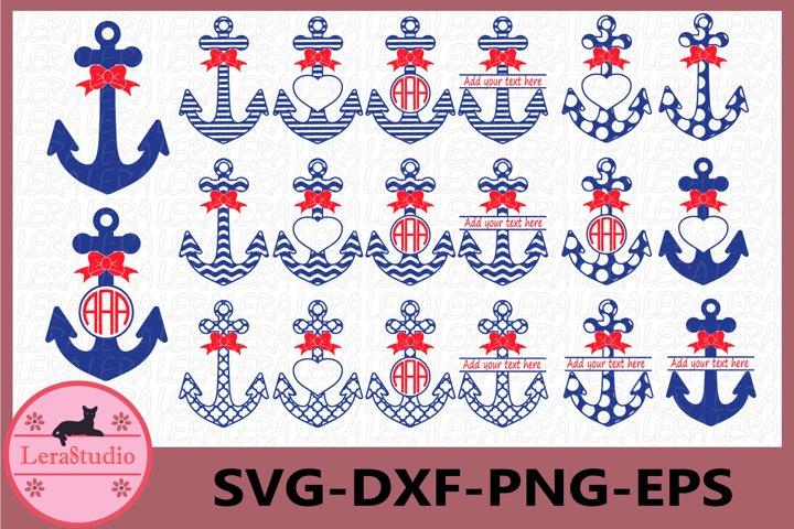 Anchor SVG, Anchors Files Svg, Anchors Monogram Svg