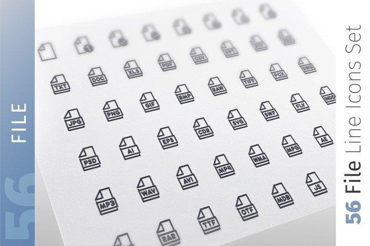 File Line Icons Set