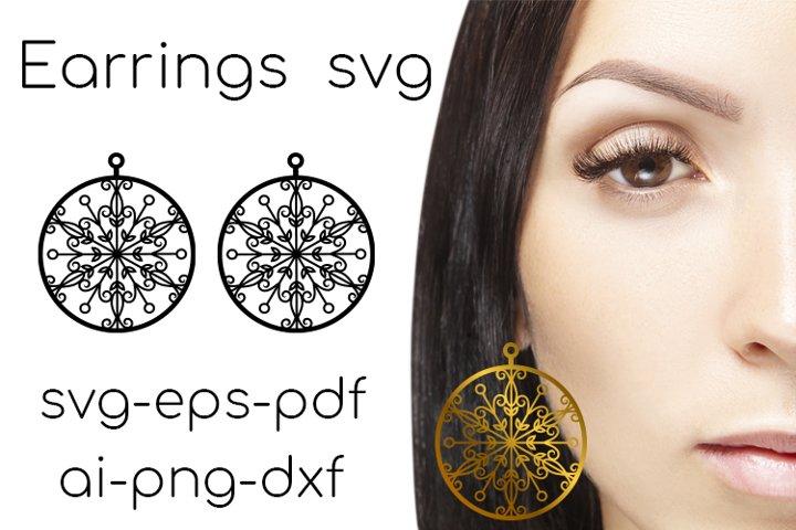 Earrings SVG. Earrings Cut File. Leather Earring svg. vol.2