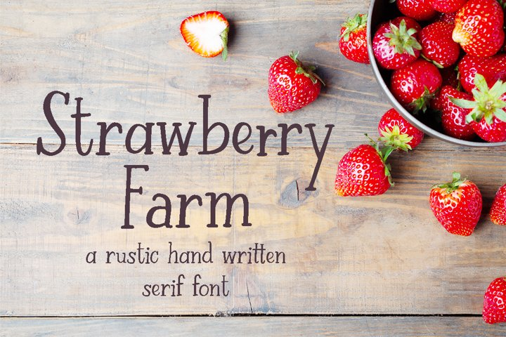 Strawberry Farm | A Serif Font