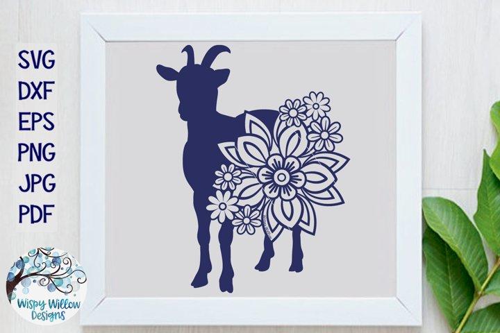 Floral Goat SVG| Goat with Flowers SVG Cut File