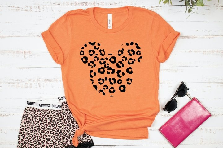 HOT TREND! Leopard Mouse Head T-shirt Design