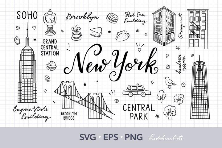 NY svg Files for cricut, USA svg Digital clipart