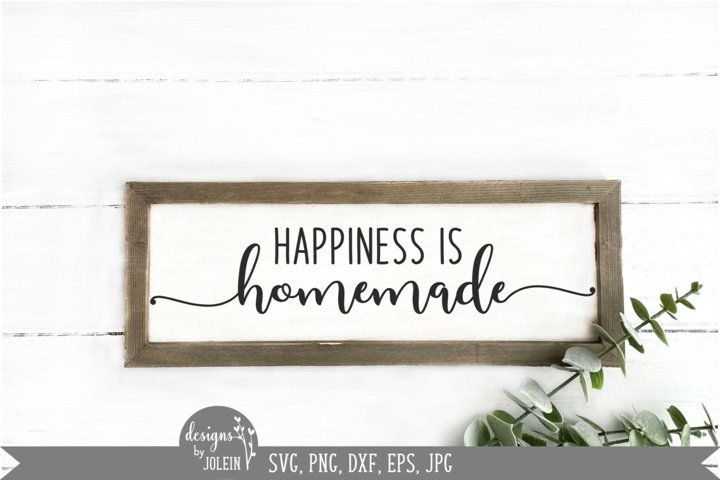 Happiness is homemade svg, Farmhouse svg, sign quotes