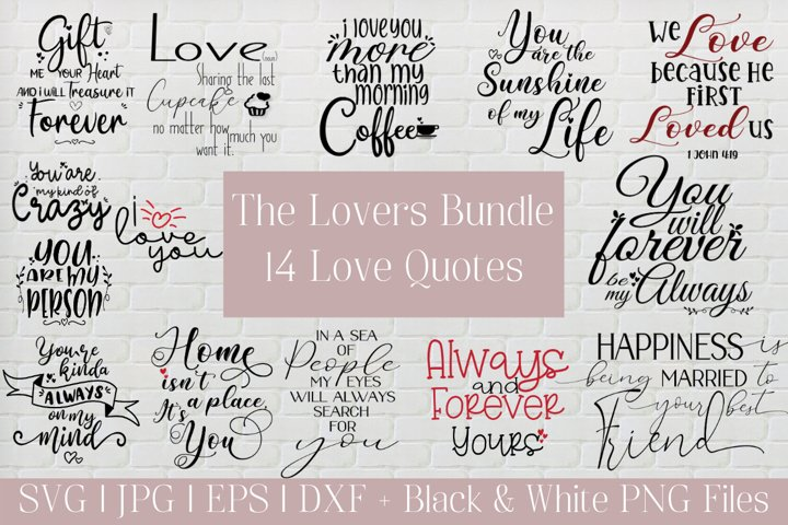Lovers Bundle, Romantic Notes, Love Quotes, Craft, PNG, SVG