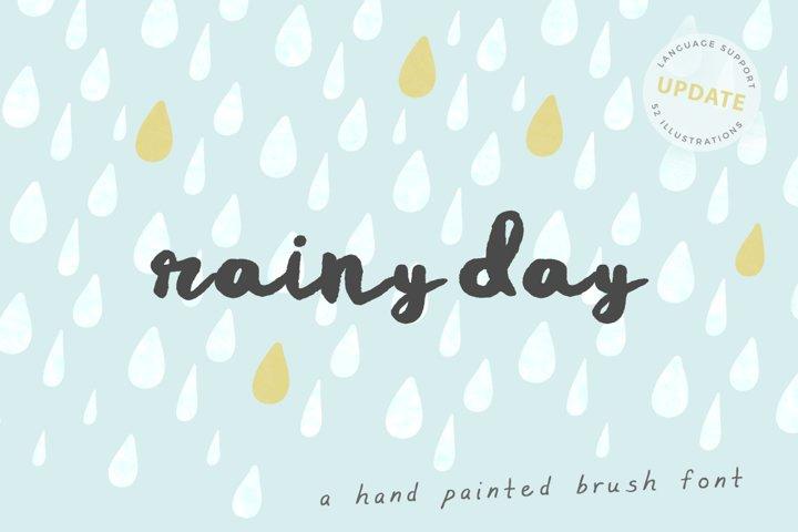 Rainy Day Brush Font