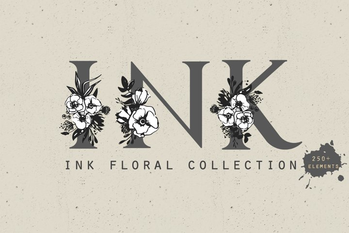 Ink floral collection