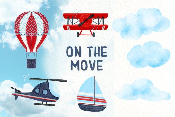 On the Move - Clip Art Set