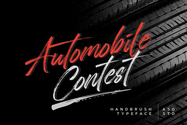 Automobile Contest - Handbrush Font