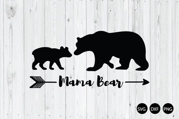 Baby Bear and Mama Bear SVG. Mama Bear SVG