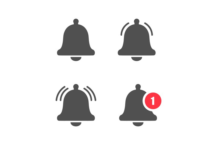 Bell notification sign set