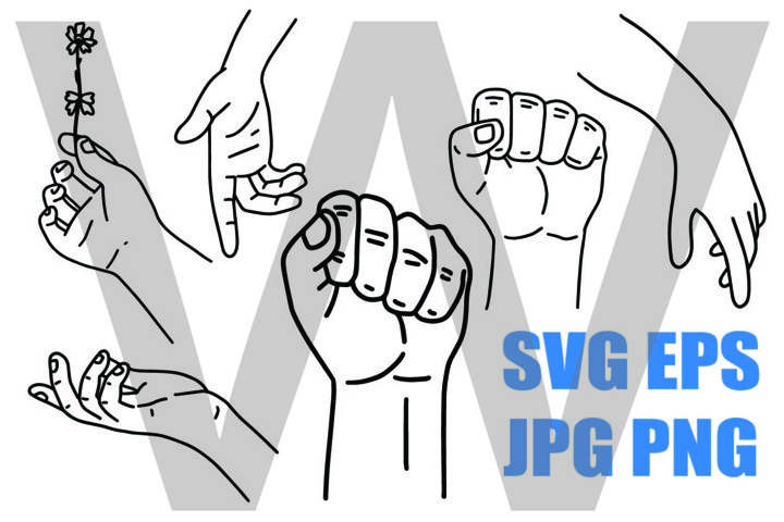 New Style Hand Set 1 - PNG SVG EPS PNG