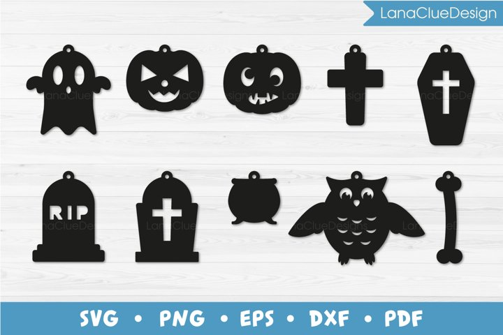 10 Halloween Earrings SVG