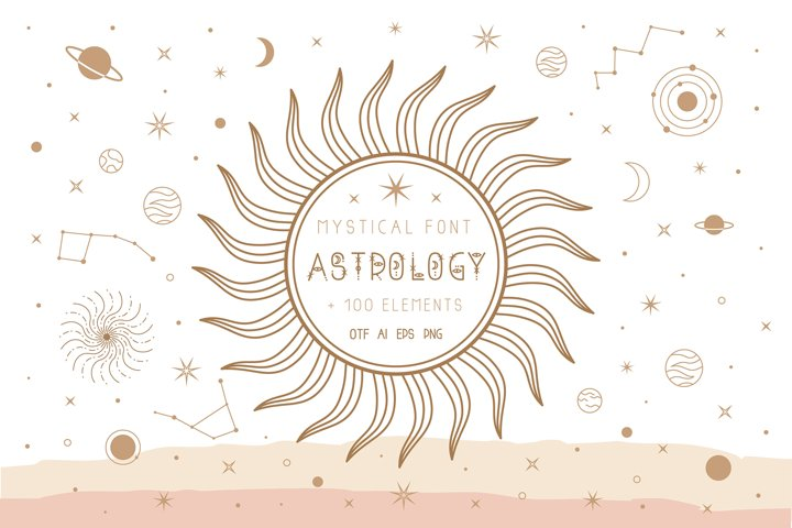 Astrology mystical font