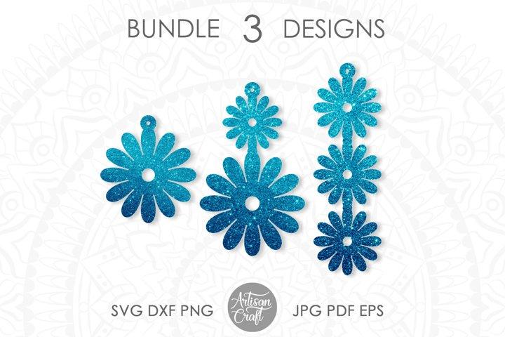 Earring SVG, Daisy earrings, summer earring