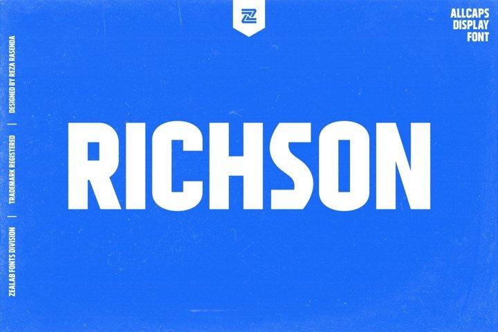 RICHSON - MULTIPURPOSE URBAN DISPLAY FONT