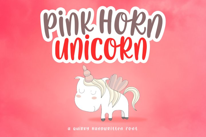 Pink Horn Unicorn