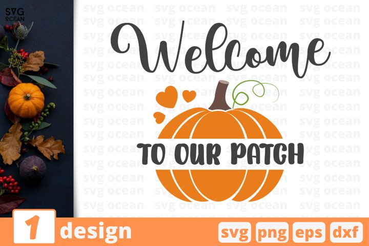 Welcome to our patch SVG Cut file | Fall cricut | Autumn