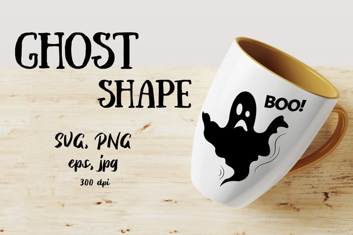 Ghost SVG vector shape